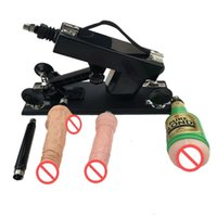 Wholesale Cheap automatic Sex Machine Gun Set with Big Dildo Adjustable Speed Pumping Gun Sex Toys products for Women