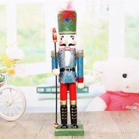 Wholesale 30cmThe new wooden arts and crafts Creative royal soldiers nutcracker puppet crafts festival gifts Foreign trade