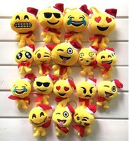 Wholesale 2016 Emoji Cartoon Smiley Emoticon Soft Plush Toys Christmas Doll Gift Key Bag Decor in stock