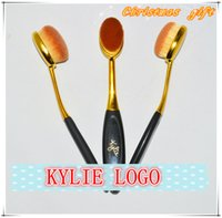 Wholesale Kylie Brow brushes Pro Soft Oval brush Makeup Foundation Brush Cream Powder Brush Christmas gift OPP bag