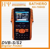 Medidor original del buscador basado en los satélites de Sathero SH-700HD DVB-S / S2 Digitaces con la ayuda USB2.0 HD de la exhibición 3.5inch