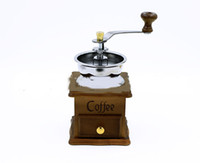 Wholesale 2016 new solid wood hand cranked home coffee bean grinding machine high density beech wood material sophisticated materials work well