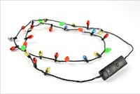 Wholesale 200PCS Led Necklace Necklaces Flashing Beaded Light Toys Christmas gift DHL Fedex W1125