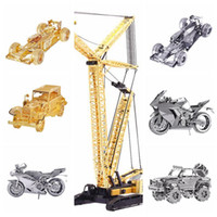 Wholesale Hot Sale D Classic Cars Puzzle Metal D Laser Cut DIY Gift Puzzles Nano Metal Micro Three Dimensional Sculpture Toys