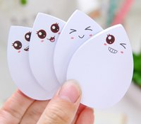 Wholesale Emoji Sticky Notes Kawaii Water Drop Sticker Easy Pasta Memo Paper Posted Messages Smile Blink Memo Flags