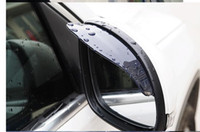 Wholesale 2Pcs Universal Flexible PVC Car Rearview Mirror Rain Shade Rainproof Blades car back mirror s eyebrow rain cover
