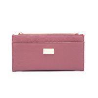 Wholesale ANNA JONES Colorful Woman Wallets Clutch Bags Credit Card Package PU Leather Simple Ladies Purse Long Style DS012