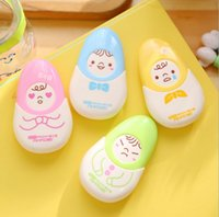 Wholesale Cute Kawaii Aihao Doll Japanese Korean m X mm Correction Tape Kids School Office Supplies Stationery Yellow Pink Blue