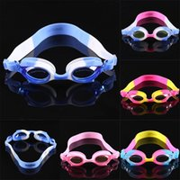 Wholesale Colorful Eyewear Cartoon Kids Children Baby Boys Girls Waterpoof Adjustable Swimming Goggles Anti fog Swim Glasses