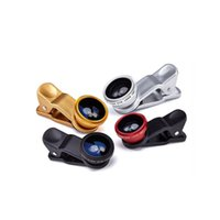 Wholesale Selling in Universal Clip Fish Eye Wide Angle Macro Phone Fisheye glass camera Lens For iPhone Samsung Cheap Price Best quality