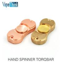 Wholesale Hot EDC HandSpinner fingertips spiral fingers gyro Torqbar Brass pure copper toys From Vapethink