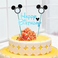 baby shower cake themes - Mickey mouse theme Cake Topper Set Baby Shower Kids Happy Birthday Cake Decorative Supplies Party Cake Decorative Supplies