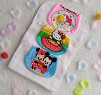 Wholesale Maternity accessories Baby Absorbent towels Gauze colors cartoon sweat towels cotton Muslin minnie layers Quality