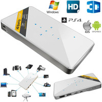 Acheter Hdmi vidéo sans fil-Vente en gros-3D mini projecteur home cinéma maison 1080P HDMI USB vidéo LED mini projecteur avec l'écran à pousser et sans fil DEC19
