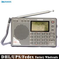 Wholesale DHL Fedex UPS PL Radio Digital Display Portable Radio FM Stereo LW SW MW DSP Receiver