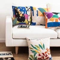 art henri - Creative brief style Nordic Modern decorative throw pillow case Henri Matisse famous paintings retro art cotton linen cushion cover for sofa