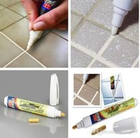 Wholesale Grout Aide GROUT TILE MARKER Covers Grout Stains Repair Pen Practical White Wall Tiles Floor Non Toxic Fix Tools