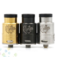 philippines - Newest Reckless RDA Clone Rebuildable Dripping Atomizers With Delrin Wide Bore Drip Tip VAPE Philippines Fit Mods DHL Free