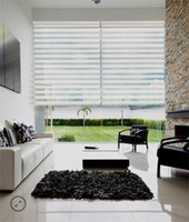 Wholesale light filtering plain color ready made zebra blinds