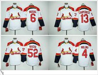 Wholesale St Louis Cardinals Yadier Molina Stan Musial Matt Carpenter Wacha Full Sleeve Men Stitched Embroidery Baseball sport Jersey