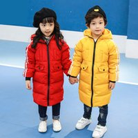 Wholesale Children s wear children s long boy cuhk in winter down jacket to keep warm and thicken cultivate one s morality children s down jacket