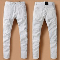 Cheap Mens White Destroyed Jeans | Free Shipping Mens White ...