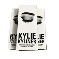 Дешевый Заливочных горшки-НОВЫЕ Кайли Kyliner Kit косметику Дженнер Kyliner В Black / Brown / хамелеон Гель Eyeliner Brush горшок