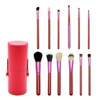 Wholesale Hot sell makeup brush wool makeup kit black powder green purple blue makeup brush tube no logo on the spot