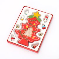 angle figurines - 2016 New Mini Christmas Wooden Tree DIY Gifts With Gingle Bell Snowman Angle Star For Table Figurines Decoration Ornaments For