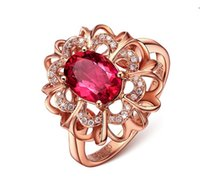 Wholesale fashion Creative inlay Rose gold rings set with colored gemstones zircon ring