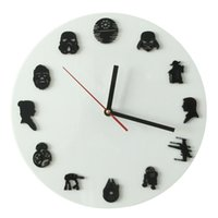 Plastic antique timepieces - Piece Handmade Star Wars Iconic Wall Clock Sci Fi Minifig Timepieces Home Decor Hanging Clock Creative Art