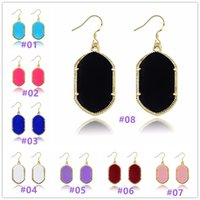 multi acrylic crystals bulk - Gold Plated Gometric Kendra Earrings Scott Style Acrylic Chandelier Dangles for Women Mixed Colors Bulk Price