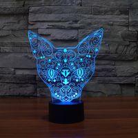 Wholesale Elegant D Little Cat Shape Nightlights Sensor Switch Botton Table Desk Reading Lamp