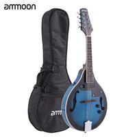 Wholesale ammoon A Style Electric Mandolin Strings Mandolin High Quality Basswood Body Rosewood Bridge Fingerboard with EQ Gig Bag