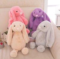 achat en gros de peluche lapin poupée-Kids Easter Bunny Short Peluche Rabbit Jouets Farcis Cartoon Animal Cute Soft Doll Long Ear Rabbit Peluches Toys Baby Kids Cadeau de Noël F590