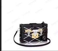 Wholesale Top quality should bag real leather FAMOUS BRAND bag tote box Tassel bag PETITE MALLE Clutch Evening Purse Totes