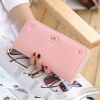 Wholesale Female Wallet Long Purse Long Note Clip Wallet New Korean Version of Women s Hand Bag Women Bag Fashion Bag