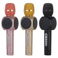 Wholesale E103 Hot Handheld Cell Phone Karaoke Microphone with Speaker Magic Karaoke Player Wireless Bluetooth for iPhone smartphone outdoor KTV DHL