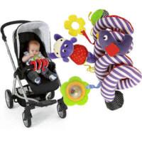 Círculo multiusos de la cama del envío del bebé de la felpa libre del juguete redondo con el muchacho del bebé del pájaro de Caterpillar del espejo de papel sano juega el regalo