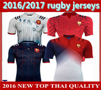 Wholesale New France Super Rugby Jerseys France Shirts Rugby Maillot de Foot French Rugby Jersey Size S XL