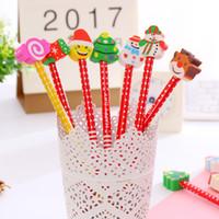 Wholesale Creative Christmas Cartoon pencils Christmas stationery Children school things Christmas gifts