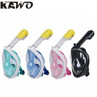 Wholesale Swimming Diving Diving Masks Drop Shippping Kawo Hot Scuba Diving Mask Full Face Snorkel Women Men Swimming Full Dry Breath