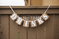 Wholesale XHandmade DRINKS Bunting Banner Wedding Photo Booth Props Birthday Party Photography Decoration
