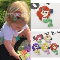 ariel hair clip - Kids Hair clips Mermaid Hair accessories Ariel non woven Barrettes Hotsale baby gifts Boutique Accessories European Pink