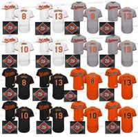 al por mayor adán jones jersey-2017 Remiendo conmemorativo 25o Baltimore Orioles de los hombres 10 Adán Jones 13 Manny Machado 8 Cal Ripken 19 jerseys de béisbol de Chris Davis Cosido
