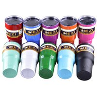 Wholesale yiezi oz OZ oz oz oz Clear Lid Rambler Cups for YIEZI Coolers Cup Sports Mugs Large Capacity Stainless OTH242