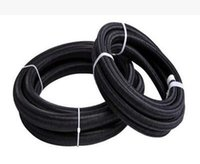 Wholesale FACTORY SALES METERS AN6 AN AN MM quot ID BLACK BRAIDED FUEL OIL FUEL HOSE