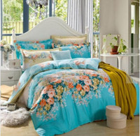 100% Linen aqua pillow covers - quilt cover bedding bag4PCS Bedding Set Super King Size Bedding set Bed Sets Quilt Wedding Duvet Cover Sheet Pillow Cover Without Comforter