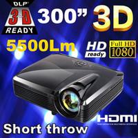 best business school - Best Full HD lumens XGA DLP Short throw holographic film Projector projektor projetor proyector for school education office