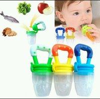 Wholesale Baby Teether Nipple Fruit Food Baby Infant Feeding Dummies Pacifier Nipples Teethers Shape Baby Teething Feeders KKA991